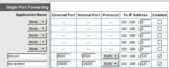 port forwarding bitcoin
