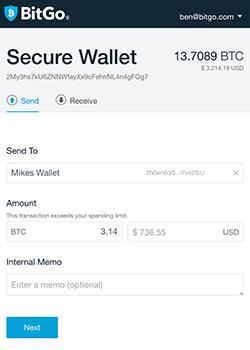 BitGo - Web - Choose your wallet - Bitcoin